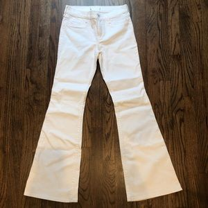Abercrombie white flare jeans